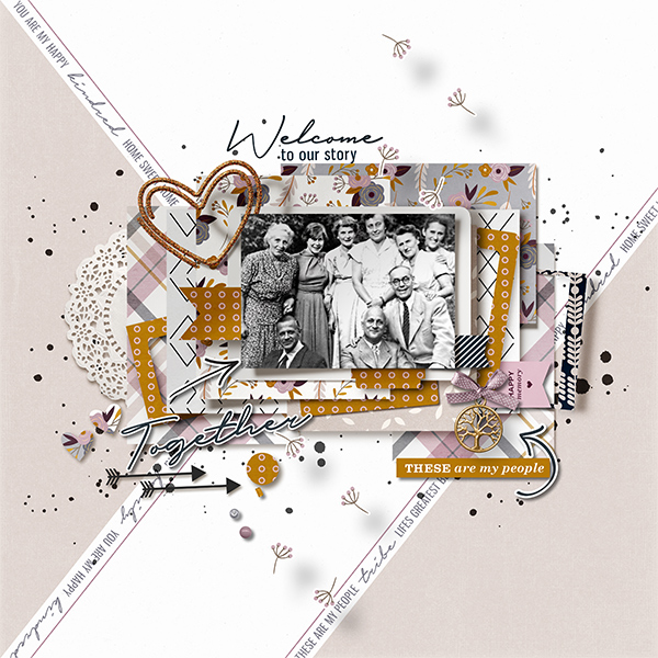 November Featured Kit Winner layout created by CharlotteM featuring Kindred by Sahlin Studio