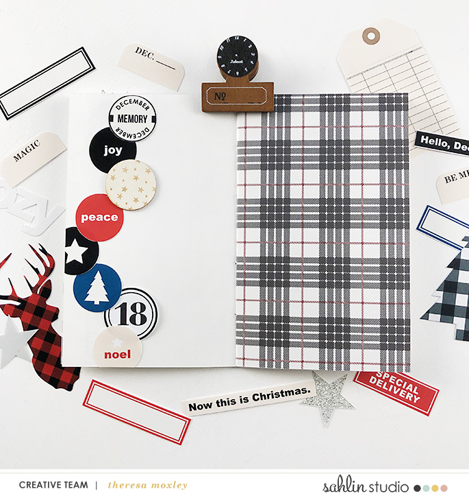 december daily foundation page created by larkindesign featuring Mad for Plaid by Sahlin Studio