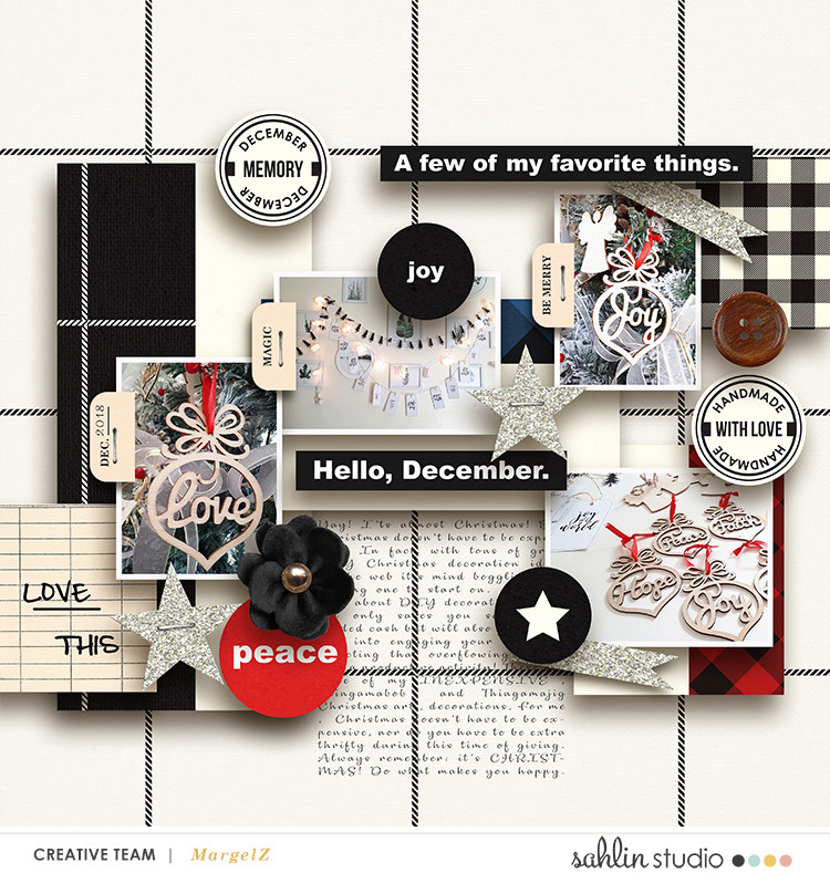 digital scrapbooking layout created by margelz featuring Mad for Plaid by Sahlin Studio