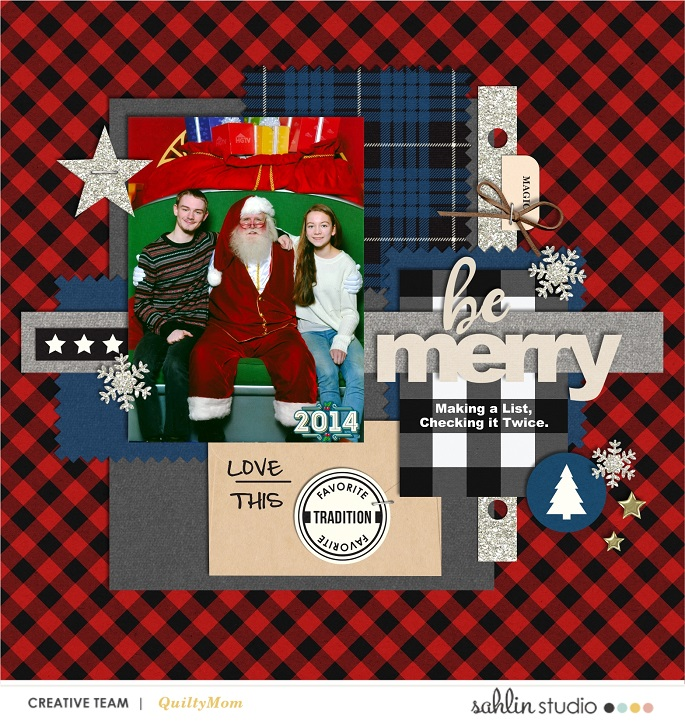 digital scrapbooking layout created by quiltymom featuring Mad for Plaid by Sahlin Studio