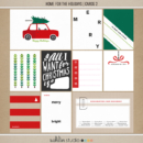 Home for the Holidays (Journal Cards 2) by Sahlin Studio - Perfect for scrapbooking your December daily albums, Document Your December or Christmas albums!!