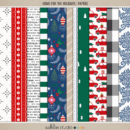 Home for the Holidays (Papers) by Sahlin Studio - Perfect for scrapbooking your December daily albums, Document Your December or Christmas albums!!