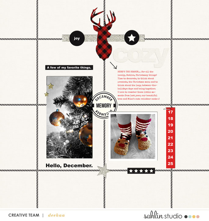 digital scrapbooking layout created by deekaa featuring Mad for Plaid by Sahlin Studio