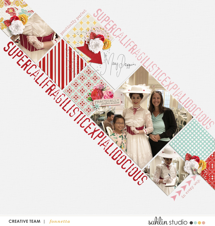 digital scrapbooking layout created by fonnetta featuring Practically Perfect by Sahlin Studio