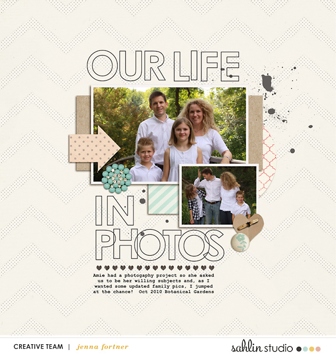 digital scrapbooking layout created by jenna featuring January 2019 FREE Template by Sahlin Studio