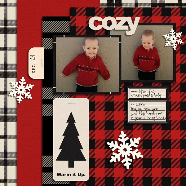 digital scrapbooking layout created by umyesh featuring December Featured Kit Mad for Plaid by Sahlin Studio