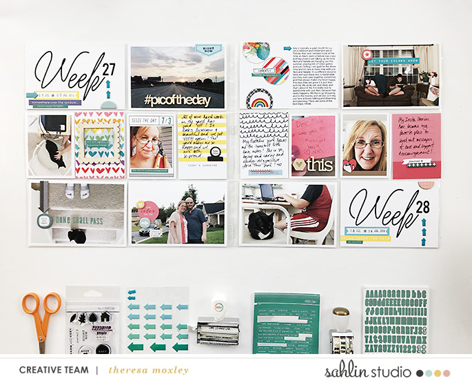 hybrid scrapbooking layout created by larkindesign featuring 4x6 Weekly Cards No. 1 by Sahlin Studio