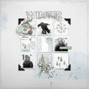 Playing in the Snow digital scrapbooking layout using Winter Stories by Sahlin Studio