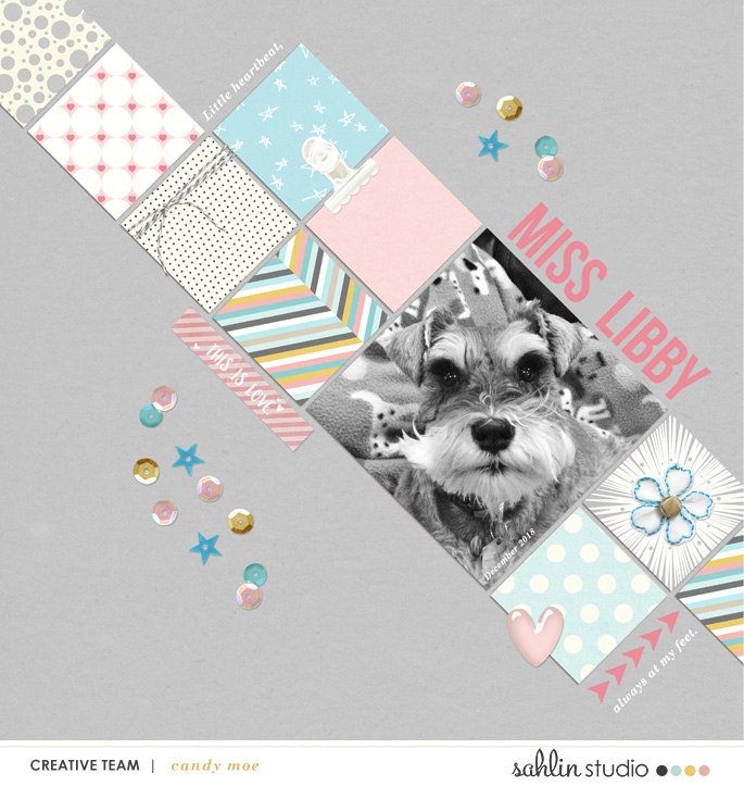 digital scrapbooking layout created by ctmm4 featuring the February 2019 Free Template by Sahlin Studio