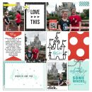 Disney Dreams Do Come True digital Project Life scrapbooking layout using Project Mouse (Vibes) Elements by Britt-ish Designs and Sahlin Studio - Perfect for scrapbooking or in your Disney Project Life or Project Mouse albums!!