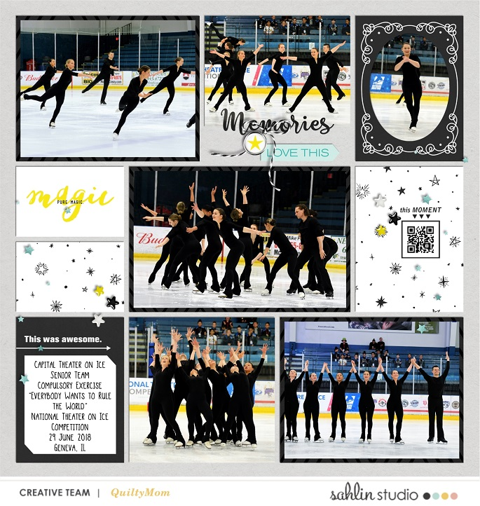 Ice Skating digital Project Life scrapbooking layout using Project Mouse (Vibes) Elements by Britt-ish Designs and Sahlin Studio