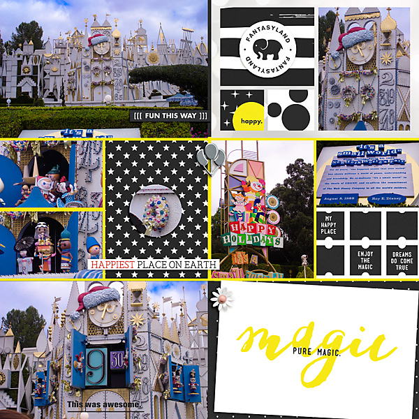 Disney Pure Magic This is my Favorite digital Project Life scrapbooking layout using Project Mouse (Vibes) Elements by Britt-ish Designs and Sahlin Studio - Perfect for scrapbooking or in your Disney Project Life or Project Mouse albums!!