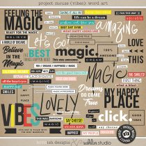 Project Mouse (Vibes) Word Art by Britt-ish Designs and Sahlin Studio - Perfect for scrapbooking or in your Disney Project Life or Project Mouse albums!!