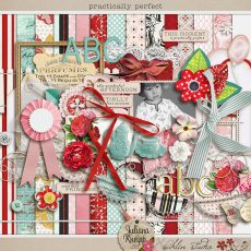 Practically Perfect kit by Juliana Kneipp and Sahlin Studio - Perfect for scrapbooking your Disney, Mary Poppins and tea parties for your girls!!