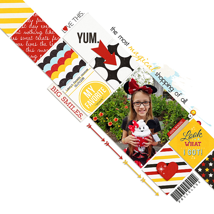 February 2019 Template Challenge Winner layout created by ScrappyHappy82 featuring February 2019 FREE Template by Sahlin Studio
