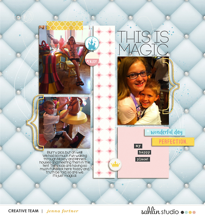 digital scrapbooking layout created by jenna featuring the March 2019 FREE Template by Sahlin Studio