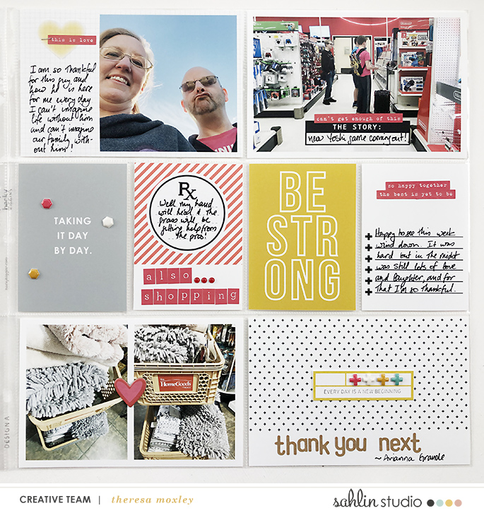 hybrid scrapbooking layout created by larkindesign featuring Ouch by Sahlin Studio