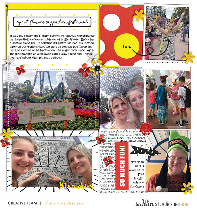 Disney Magic digital scrapbooking layout using Project Mouse by Britt-ish Designs and Sahlin Studio - Perfect for scrapbooking or in your Disney Project Life or Project Mouse albums!!
