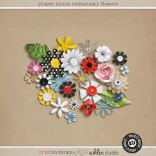 Project Mouse (Essentials): Flowers by Britt-ish Designs and Sahlin Studio - Prefect for digital scrapbooking your Project Mouse albums!!