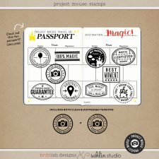 Project Mouse: Stamps by Britt-ish Designs and Sahlin Studio - Prefect for digital scrapbooking your Project Mouse albums!!