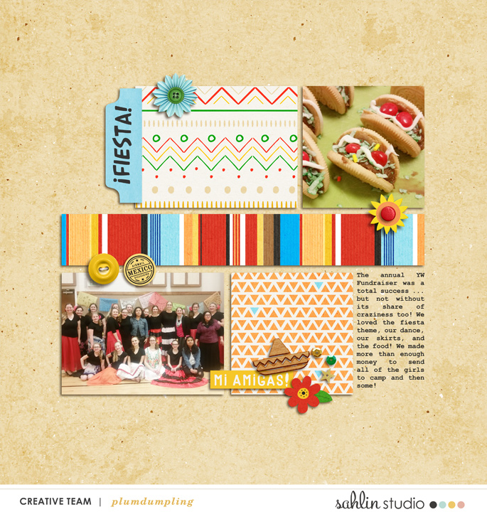 digital scrapbooking layout created by plumdumpling featuring the March 2019 FREE Template by Sahlin Studio
