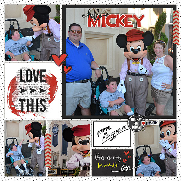 digital scrapbooking layout created by disney mom missy featuring April 2019 FREE Template by Sahlin Studio