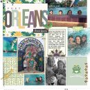 Disney Port Orleans French Quarter digital project life scrapbook layout using Project Mouse (New Orleans): Elements by Britt-ish Designs and Sahlin Studio