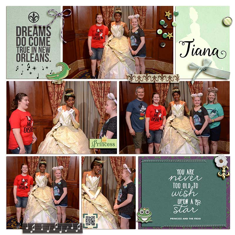 Disney Tiana Princess and the Frog digital Project Life scrapbook layout using Project Mouse (New Orleans): Elements by Britt-ish Designs and Sahlin Studio
