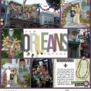 Disney New Orleans Square Court of Angels digital Project Life layout using Project Mouse (New Orleans): Elements by Britt-ish Designs and Sahlin Studio