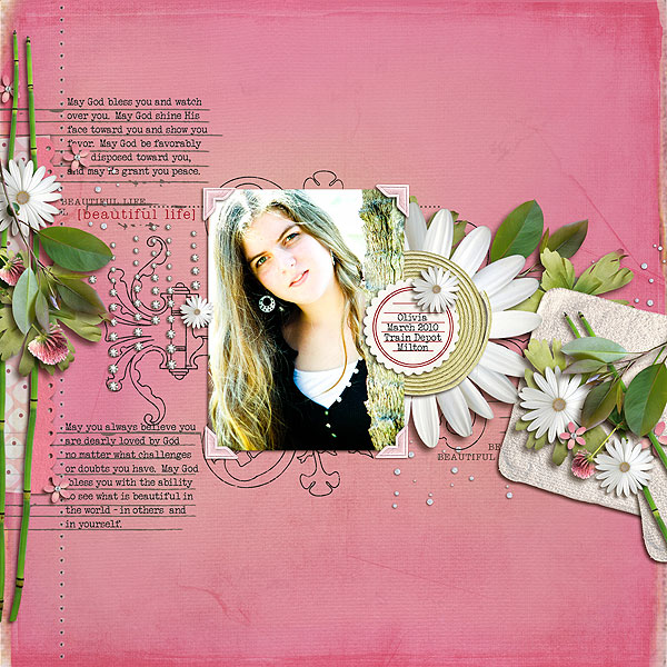digital scrapbooking layout featuring Rejuvenate by Sahlin Studio