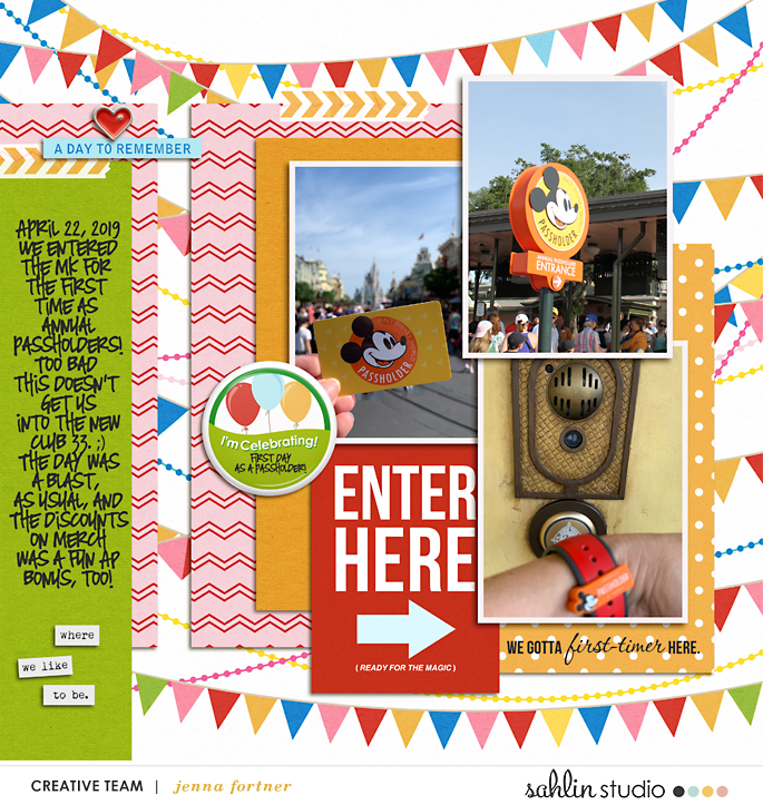 digital scrapbooking layout created by jenna featuring June 2019 FREE Template by Sahlin Studio