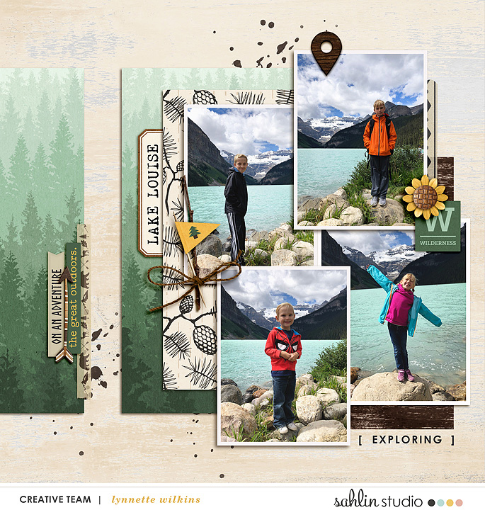 digital scrapbooking layout created by lynnette featuring June 2019 FREE Template by Sahlin Studio