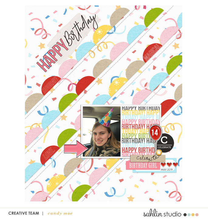digital scrapbooking layout created by ctmm4 featuring the May 2019 FREE Template by Sahlin Studio