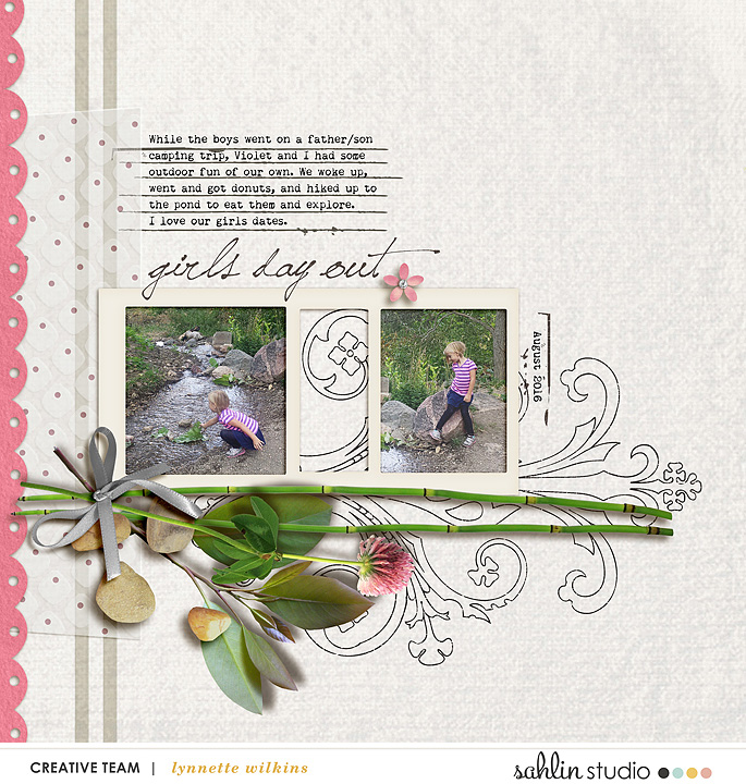digital scrapbooking layout created by Lynnette featuring Rejuvenate by Sahlin Studio