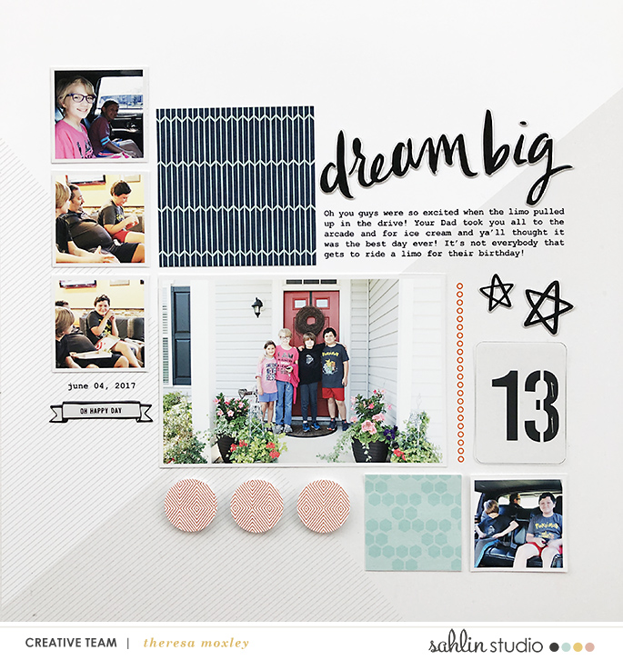 hybrid scrapbooking layout created by larkindesign featuring July 2019 FREE Template by Sahlin Studio