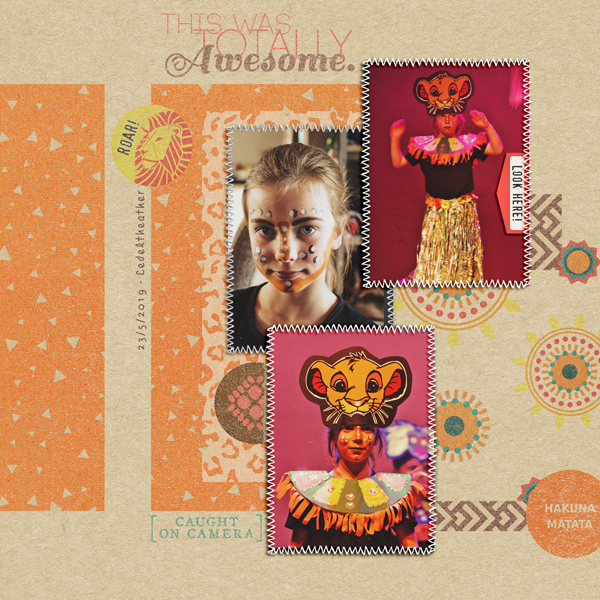digital scrapbooking layout created by Vrielinkie featuring June 2019 FREE Template by Sahlin Studio