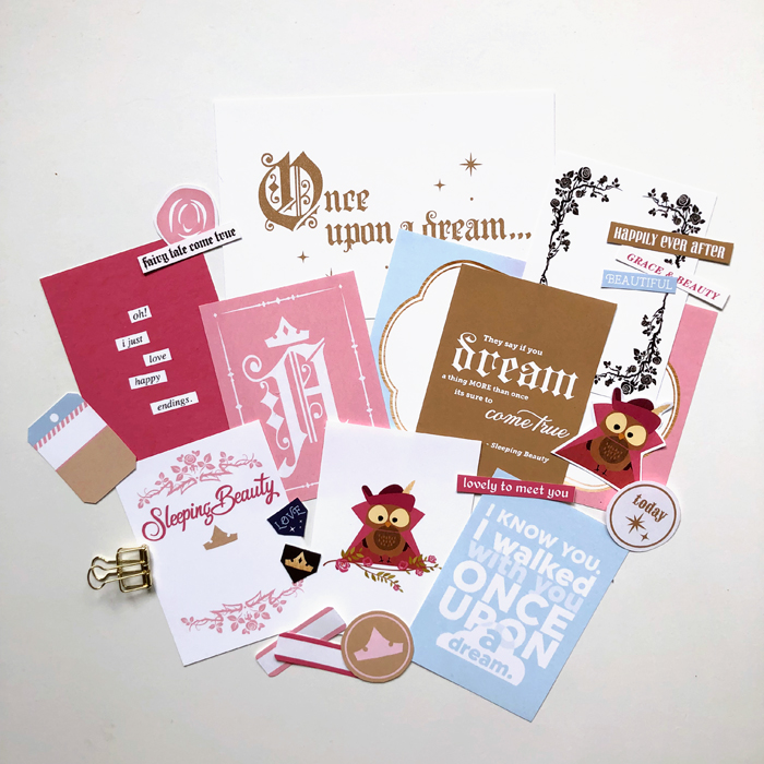Project Mouse (Princess) Aurora | Kit & Journal Cards PRINTED by Britt-ish Designs and Sahlin Studio