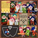 Meeting Disney Snow White Seven Dwarfs Mine Train Ride digital Project Life scrapbook layout using Project Mouse (Princess) Snow White | Journal Cards & Kit by Britt-ish Designs and Sahlin Studio