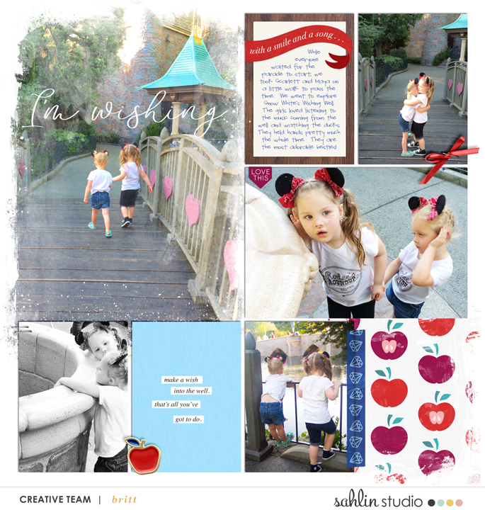 Snow White Wishing Well Disney digital Project Life scrapbook layout using Project Mouse (Princess) Snow White | Kit & Journal Cards by Britt-ish Designs and Sahlin Studio