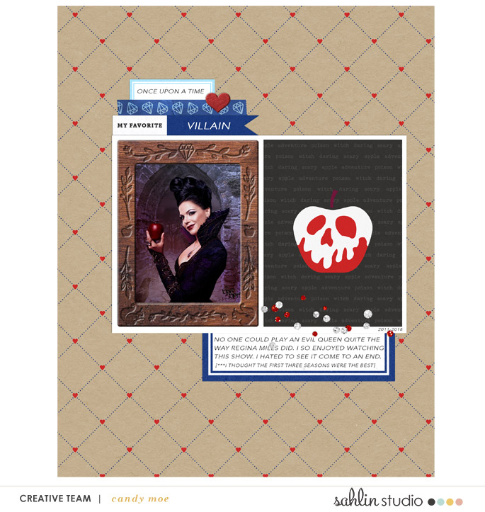 Once Upon a Time digital scrapbook layout using Project Mouse (Princess) Snow White | Journal Cards & Kit by Britt-ish Designs and Sahlin Studio