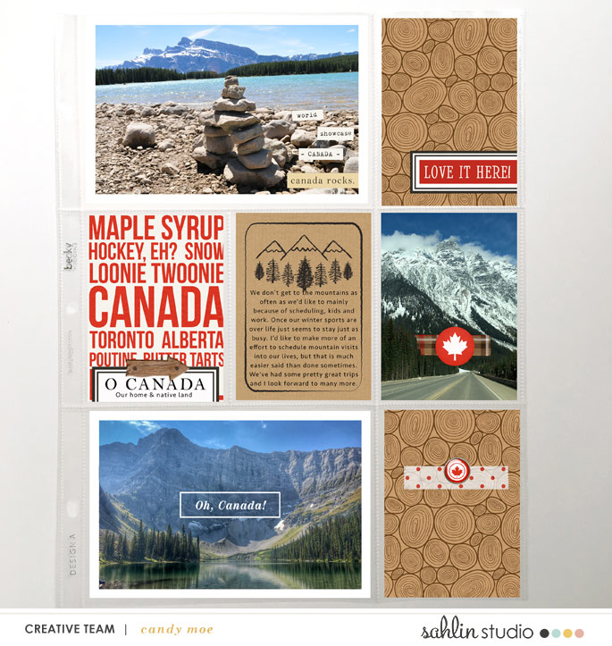 hybrid scrapbooking layout created by ctmm4 featuring Project Mouse (World): Canada by Sahlin Studio and Britt-ish Designs