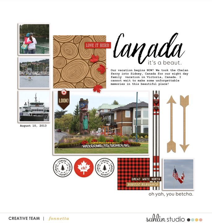 digital scrapbooking layout created by fonnetta featuring Project Mouse (World): Canada by Sahlin Studio and Britt-ish Designs