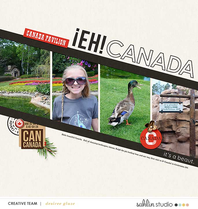 digital scrapbooking layout created by glazefamily3 featuring Project Mouse (World): Canada by Sahlin Studio and Britt-ish Designs