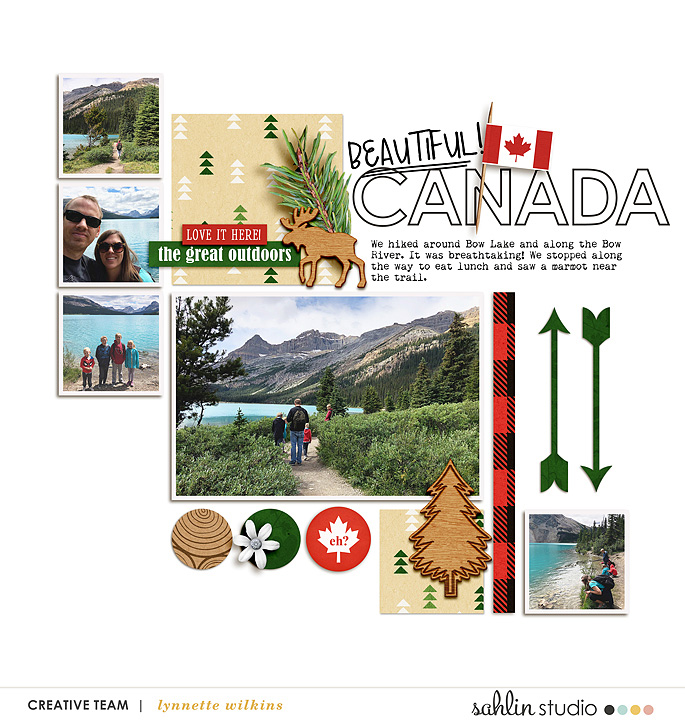 digital scrapbooking layout created by lynnette featuring Project Mouse (World): Canada by Sahlin Studio and Britt-ish Designs