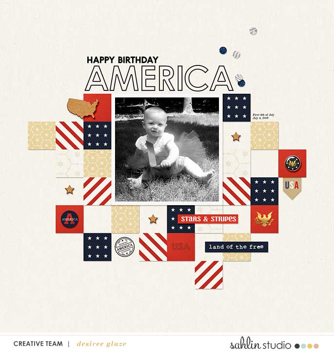 digital scrapbooking layout created by fonnetta featuring Project Mouse (World): America by Sahlin Studio and Britt-ish Designs
