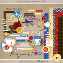 Project Mouse (Princess) Belle   Kit by Britt-ish Designs and Sahlin Studio - Perfect for documenting Beauty and the Beast or other magical moments in your Project Life / Project Mouse album!!