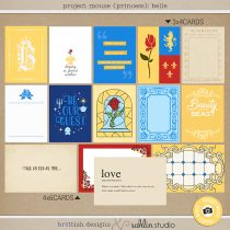 Project Mouse (Princess) Belle   Journal Cards by Britt-ish Designs and Sahlin Studio - Perfect for documenting Beauty and the Beast or other magical moments in your Project Life / Project Mouse album!!