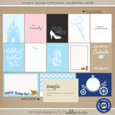 Project Mouse (Princess) Cinderella | Journal Cards by Britt-ish Designs and Sahlin Studio - Perfect for documenting Cinderella or castle or other magical moments in your Project Life / Project Mouse album!!