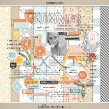 Summer Stories | Kit by Sahlin Studio - Perfect for all of your summer, swimming, beach, pool scrapbooking layouts.