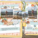 Summer Beach Documented digital scrapbook layout using Summer Stories | Kit by Sahlin Studio